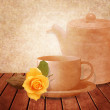 Tea time background — Stock Photo