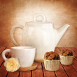 Tea time background — Stock Photo #23514459