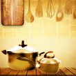 Kitchen cooking details - Foto Stock