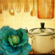 Kitchen cooking details — Foto Stock