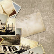 Vintage travel background with old photo. — Stock Photo #25147739