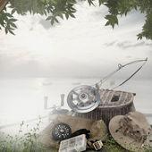 Equipos de pesca en la cubierta — Foto de Stock
