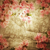 Old paper. Spring flower background. — Stock Photo