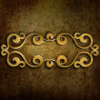 Metal plate with ornament - Stock Photo