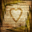 Stock Photo: Wood heart concept