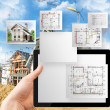 Construction layout plan. — Stock Photo