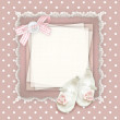 Stock Photo: Pastel baby card
