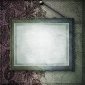 Old frame on elegant vintage background — Foto Stock