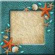 Photo frame with seshells — Stock Photo #27192715