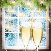 Sfondo di celebrazione di nuovo anno. — Foto Stock