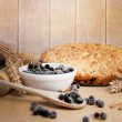 Freshly baked pie with berries. — Stock Photo