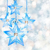 Shining stars on the Christmas background. — Stock Photo