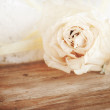 Vintage flower on a wooden backgroung — Stock Photo