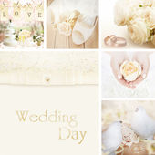 Wedding collage decoration — Stock Photo