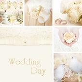 Wedding collage decoration — Stock Photo