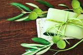 Handgjord tvål. olivolja spa — Stockfoto