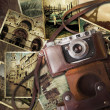 Vintage travel background — Stock Photo