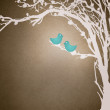 Birds couple in love — Stock Photo