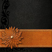 Vintage background with brown and black leather. — Stock Photo