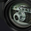 A reflection of the old camera in lens digital camera. — Stock Photo