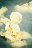 Angel on vintage background — Stock Photo