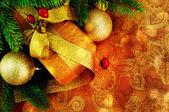 Vánoční dárek. — Stock fotografie
