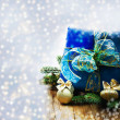 Foto Stock: Christmas gift card
