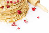 Delicious pancakes with berries. — Stock Photo