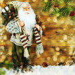Santa Clause on the winter background. — Stock Photo
