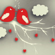 Birds couple in love. — Stock Photo