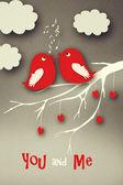 Birds couple in love. — Stock Photo