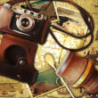 Stock Photo: Vintage travel background. Memories of trip to Argentina.