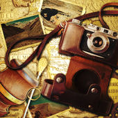 Vintage travel background. Memories of trip to Argentina. — Stock Photo
