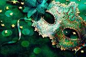 Female carnival mask with shiny background. — Stock Photo