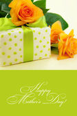 Beautiful gift box with roses. — Stockfoto