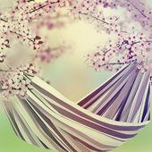 Bahçesinde hamak — Stok fotoğraf