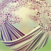 гамаке в саду — Стоковое фото