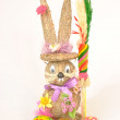 Stock Photo: Easter bunny on white background