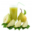 Stock Photo: Pear juice