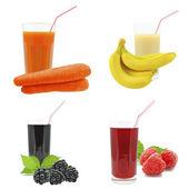 Jugos de frutas y verduras — Foto de Stock