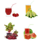 Juices from fruits and vegetables — Stock Photo