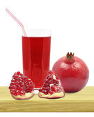 Juice of pomegranates — Stockfoto