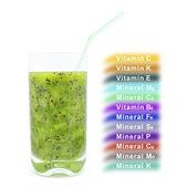 Kiwi juice — Stock Photo