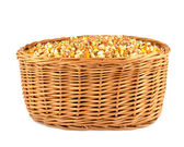 Corn in basket — Stock Photo