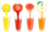 Fruit juices — Stock Photo