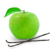Apple and vanilla — Stock Photo