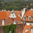 Zagreb city roofs — Stock Photo