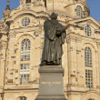 Statue of Martin Luther in Dresden - Stock Photo