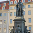 Monument of Friedrich August King of Saxony - Stock Photo