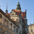 Dresden Castle and Procession of Princes, Germany — Stock Photo